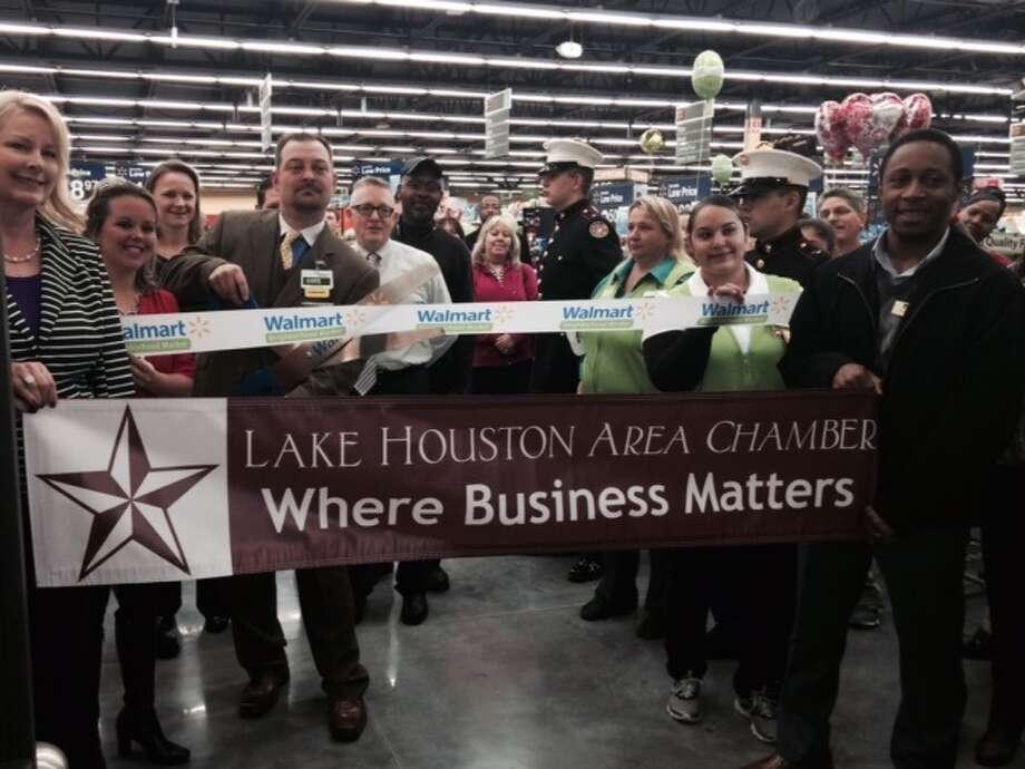 Ribbon cutting at the Atascocita store at12312 Will Clayton Parkway. Photo: Walmart