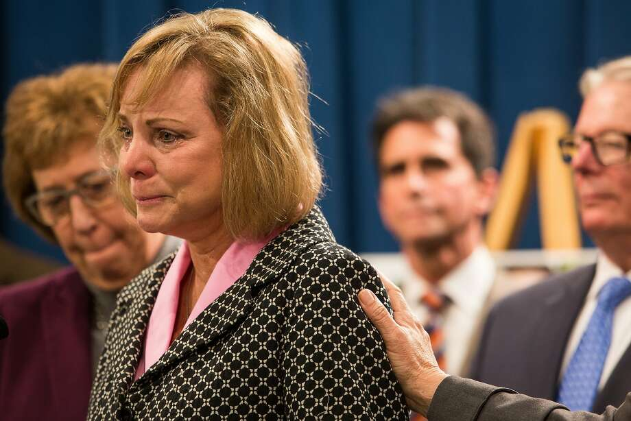 """Brittany Maynard's mother, Debbie Ziegler, speaks during a press conference introducing SB 128, """"The End-of-Life Options Act"""" at the State Capitol in Sacramento on January 21, 2015. Photo: Max Whittaker/Prime, Special To The Chronicle"""