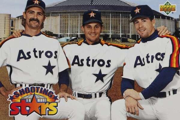 Detail of one of Craig Biggio's Houston Astros baseball cards photographed in the Houston Chronicle studio, Wednesday, Jan. 7, 2015, in Houston. ( Karen Warren / Houston Chronicle )