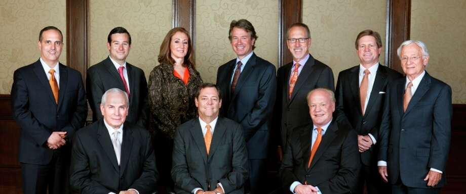 The University of Texas Board of Regents includes nine members who serve six-year staggered terms and one student member.