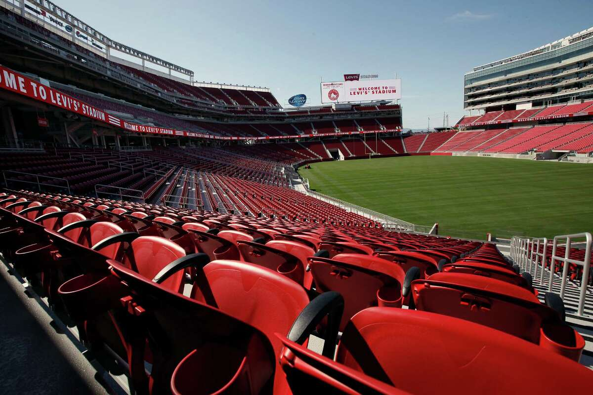 A general view of the field and stands during a media tour before the start of the ribbon cutting ceremony officially opening Levi's Stadium in Santa Clara, CA, Thursday, July 17, 2014.