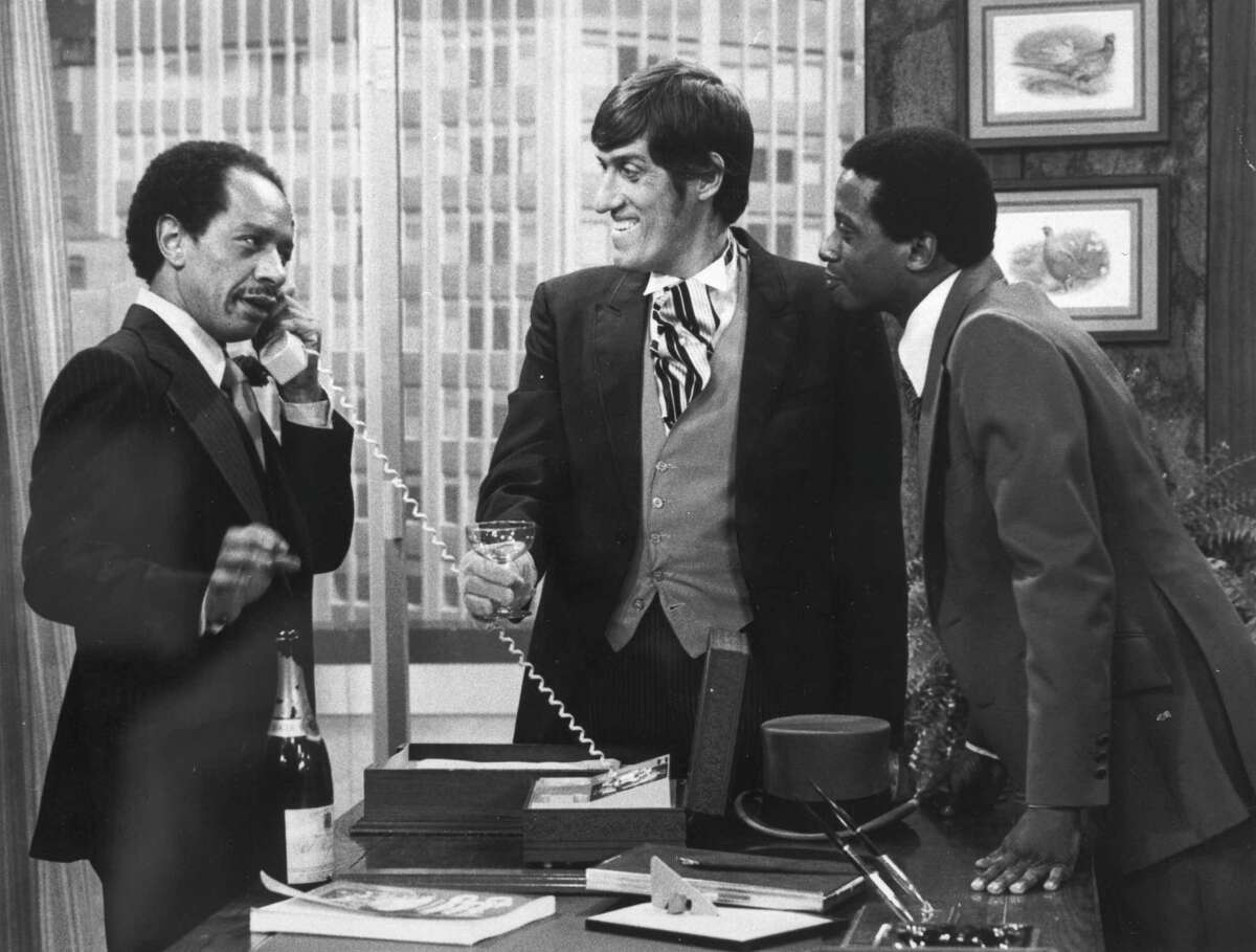 "Sherman Hemsley (left), Paul Benedict and Damon Evans in an episode of ""The Jeffersons."""
