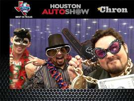 Car show fans get silly at the Houston Auto Show