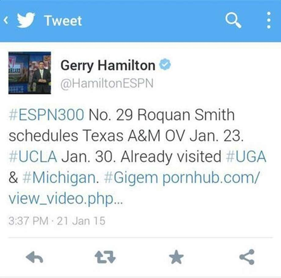 Tweet from @ryanellisracing on ESPN analyst Gerry Hamilton Photo: Screenshot From Twitter/@ryanellisracing