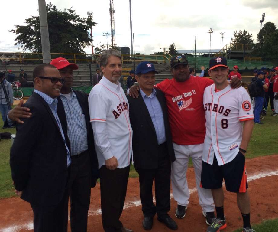 "Astros shortstop Jed Lowrie traveled to Colombia to serve as a Sports Envoy in Major League Baseball's ""Diamond Diplomacy"" program. Photo: Courtesy CAA Sports"