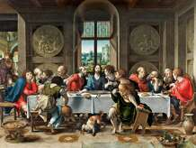 """The Last Supper,""  by Pieter Coecke van Aelst, 1527. Oil on panel. Metropolit Museum of Art curator Maryan Ainsworth used forensic techniques to determine that this work was the original of more than 40 versions. It was used by medieval weavers in making tapestries. The Duke and Duchess of Rutland Collection, Belvoir Castle, Grantham, England."