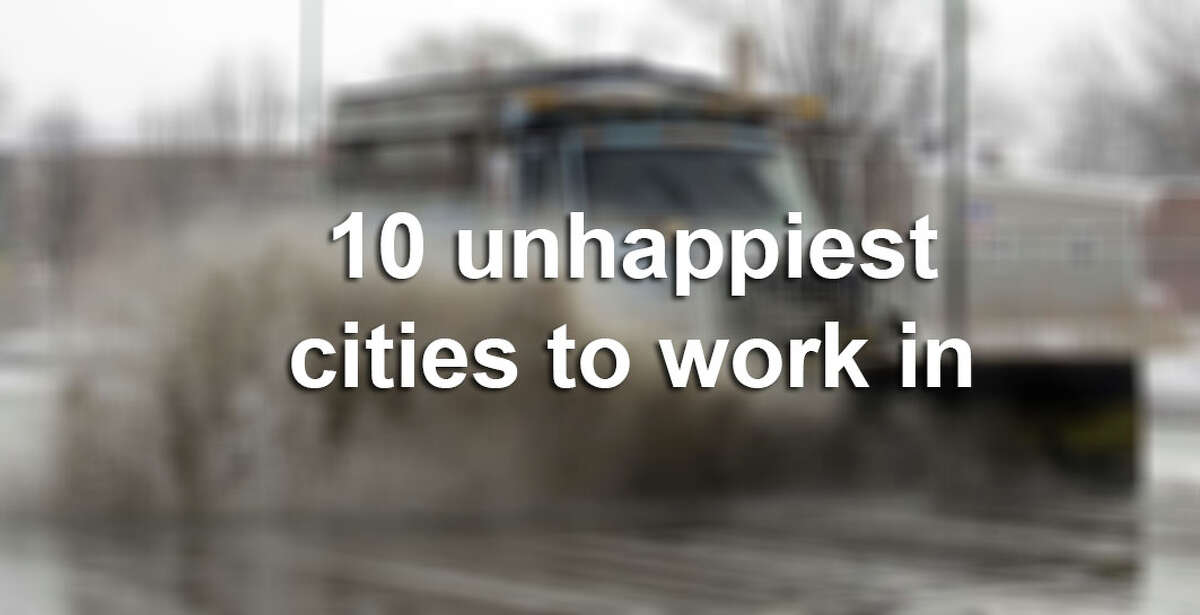 """Forbes.com and CareerBliss listed the """"10 Happiest and Unhappiest Cities to Work In Right Now,"""" and while San Antonio ranked as one of the happiest, Austin and Houston were among the unhappiest. The list is based on work-life balance, employee relationships with their boss and co-workers, work environment, compensation, opportunities for advancement, company culture and resources."""