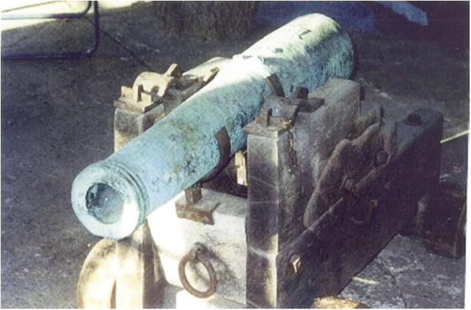"When it was discovered ""in a dark storage-type workroom, way out in the country,"" the cannon was badly weathered and oxidized. It was restored during a two-year process by Texas A&M University. Photo: Courtesy Photo"