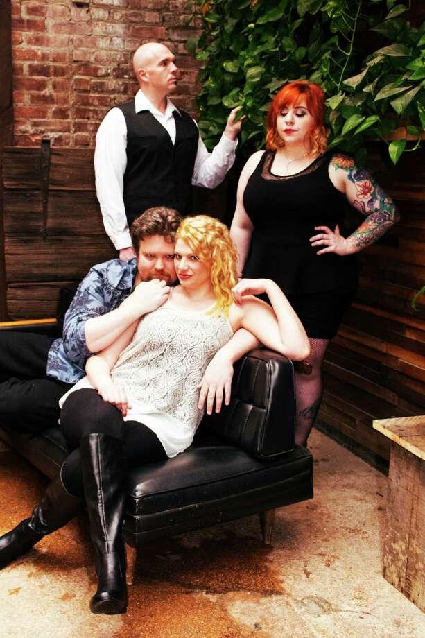 "Clockwise from top left: Peter Darling, Lauren Kerr,  Laura Tortoric and   Kenneth Kasch in ""Murder Ballad."""