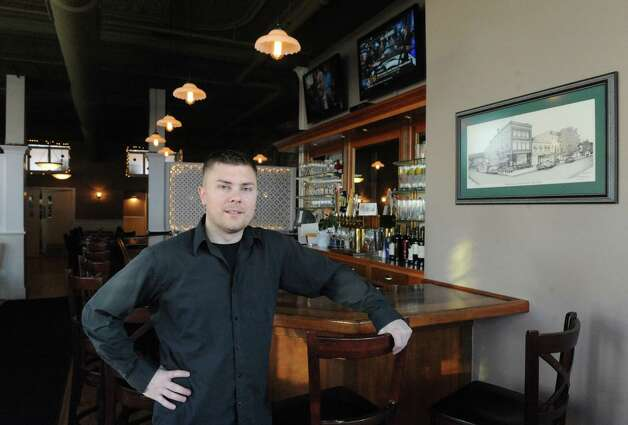 Jason Young owner of Clark's Steakhouse at 120 Broad Street Thursday Jan. 15, 2015 in Schuylerville, N.Y. (Michael P. Farrell/Times Union) Photo: Michael P. Farrell / 00030206A