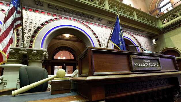 The gavel on the speaker's podium sits idle Thursday morning, Jan. 22, 2015, at the State Capitol in Albany, N.Y., as Assembly Speaker Sheldon Silver answers to charges in Federal Court in New York City.      (Skip Dickstein/Times Union) Photo: SKIP DICKSTEIN / 00030317A