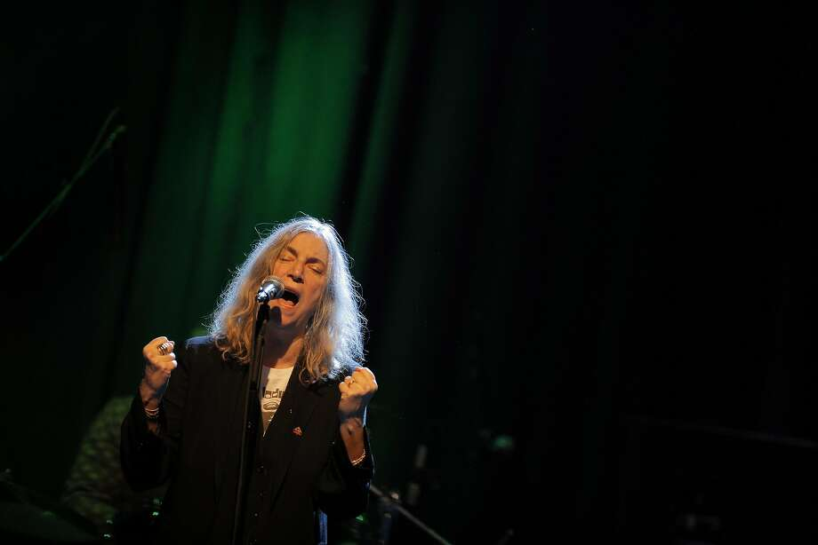 Patti Smith performs at the Fillmore on New Year's Eve. Photo: Carlos Avila Gonzalez, The Chronicle