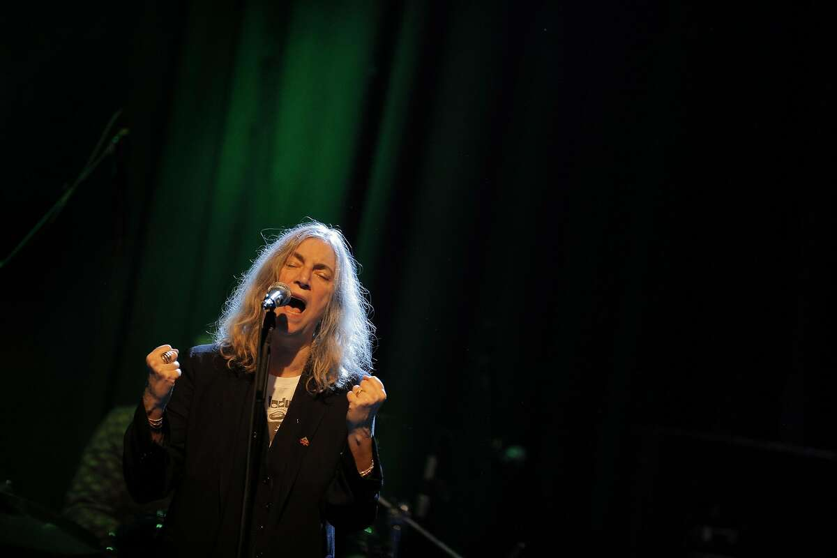 Patti Smith performs at the Fillmore in San Francisco, Calif., on Wednesday, January 21, 2015.