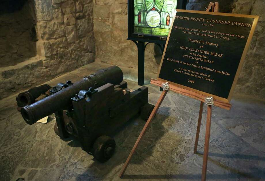 This is the small Spanish cannon that's the focus of attention. It hasn't been conclusively linked to the battle. Photo: Bob Owen /San Antonio Express-News / © 2015 San Antonio Express-News