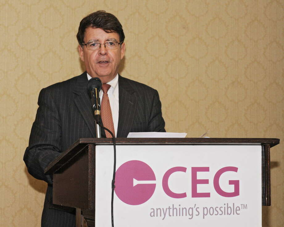 F. Michael Tucker, president and CEO, Center for Economic Growth, gives the closing remarks during The CEG's 18th Annual Technology Innovation Awards Luncheon at the Century House on Wednesday, June 25, 2014 in Latham, N.Y.   (Lori Van Buren / Times Union) Photo: Lori Van Buren / 00027495A
