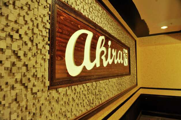 A view of the sign inside a private hibachi room at  Akira, a new hibachi and sushi restaurant located at 385 Route 9W on Thursday, Jan. 22, 2015, in Glenmont, N.Y.    (Paul Buckowski / Times Union) Photo: Paul Buckowski / 00030305A