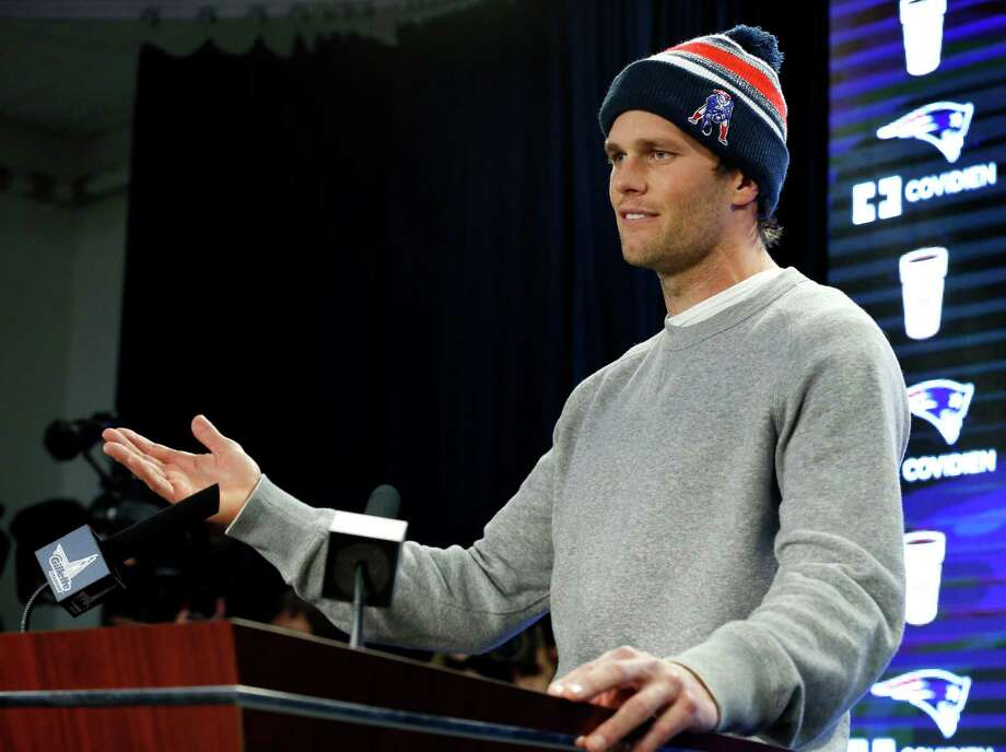 New England Patriots quarterback Tom Brady speaks at a news conference in Foxborough, Mass., Thursday, Jan. 22, 2015. Brady said Thursday that he did not know how New England ended up using underinflated balls in its win Sunday against the Indianapolis Colts in the AFC Championship game. (AP Photo/Elise Amendola) ORG XMIT: MAEA122 Photo: Elise Amendola / AP