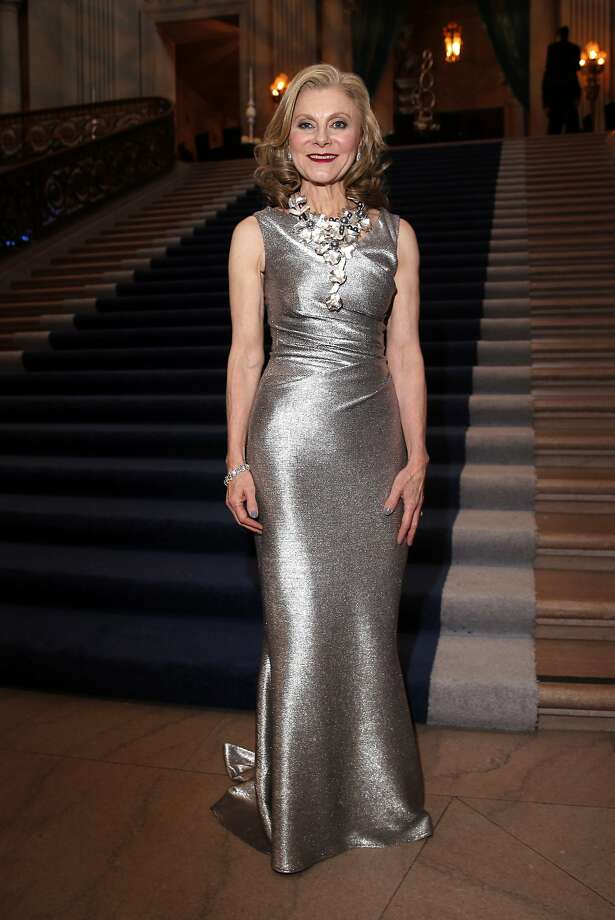 Patty Rock in shimmering silver Talbot Runhof during the San Francisco Ballet 2015 Opening Night Gala in San Francisco, Calif. on Thursday, January 22, 2015. Photo: Scott Strazzante, The Chronicle
