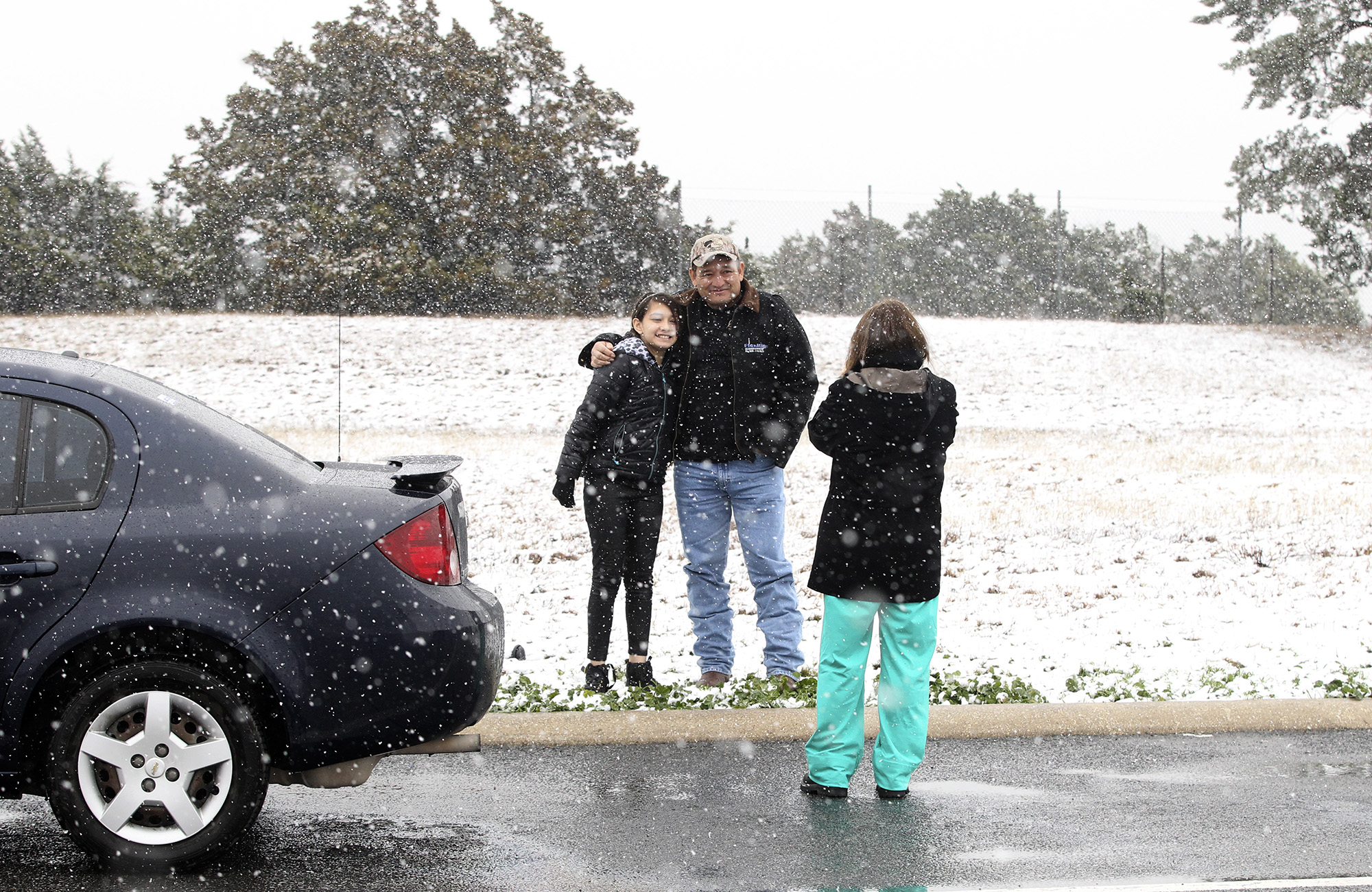 Snow Covers Parts Of Texas But No Chance For San Antonio
