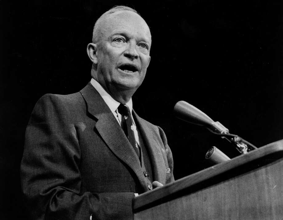 Dwight D Eisenhower (1890 - 1969), the 34th president of the United States of America. Photo: Bert Hardy / Getty Images / Hulton Archive