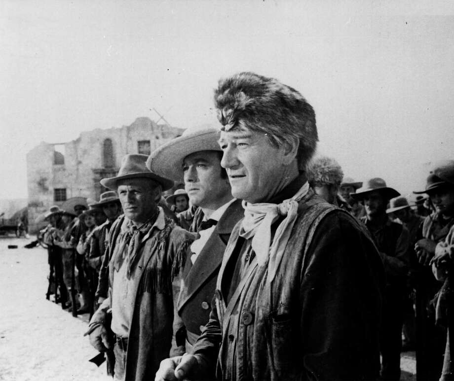 "John Wayne starred as Davy Crockett in the 1960 movie ""The Alamo."" Photo: Express-News File Photo / EXPRESS-NEWS FILE PHOTO"