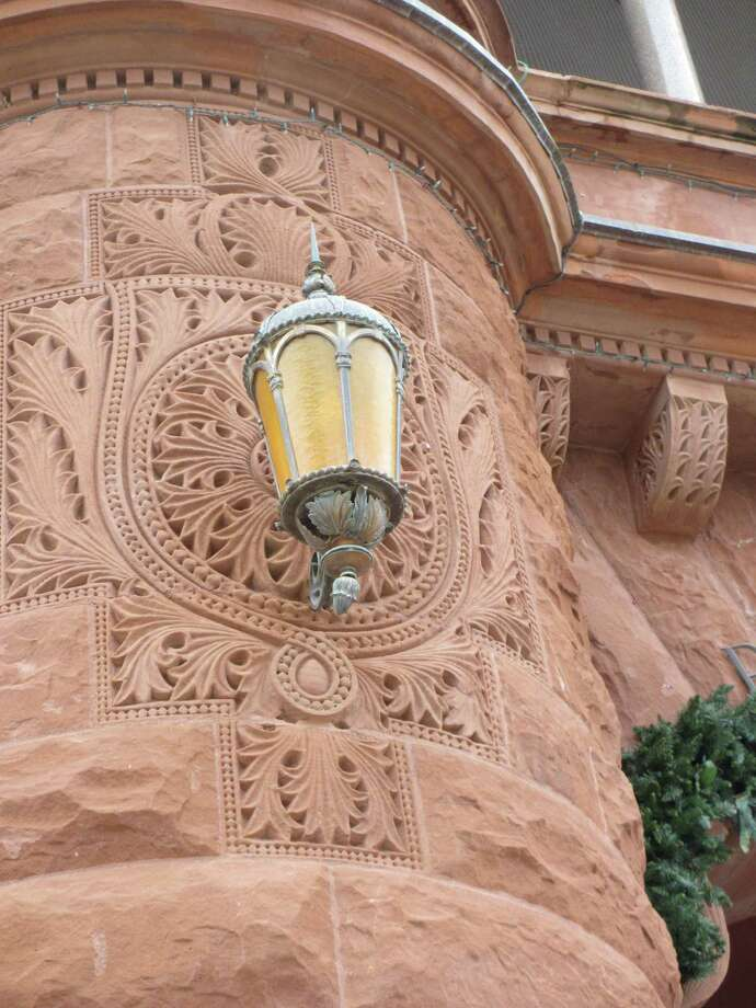 The intricate detail of the carved red sandstone on the outside of the Bexar County Courthouse hints at the architectural details of the building inside, which has been undergoing a major restoration. Photo: Terry Scott Bertling / San Antontonio Express-News