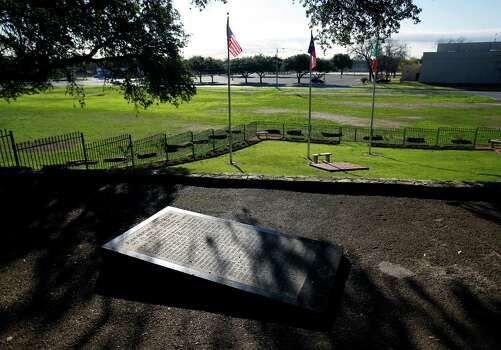 Juan Seguin's burial site is in Seguin, Texas. Seguin was originally buried in Nuevo Laredo but his remains were returned to Seguin in 1974 and reinterred as part of bicentennial celebrations July 4, 1976. Photo: William Luther /San Antonio Express-News / © 2014 San Antonio Express-News