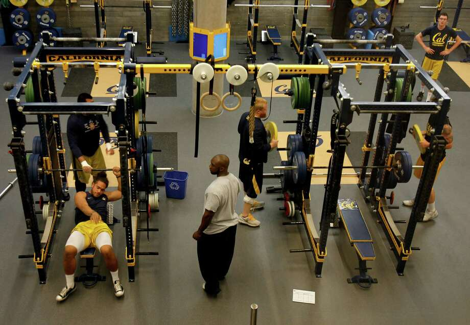 Cal football players work out in their new state-of-the-art weight room at Memorial Stadium in 2013 in Berkeley. Sharp divisions among the UC regents likely reflect the public's views on academic standards for athletes. Photo: Brant Ward / The Chronicle / ONLINE_YES