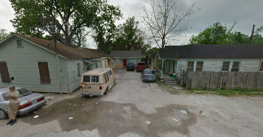 Before:This apartment-like complex of homes on 43rd Street as it looked before being purchased by the Houston Independent School District Photo: Google Maps
