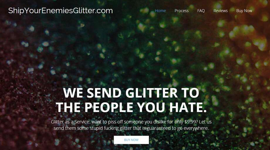 Ship your enemies glitterThe company that's been making headlines around the country and has received a mention on Jimmy Fallon will send glitter to your enemies. Why? Because it gets everywhere and is technically legal.Click to see which other strange companies you never knew existed. Photo: Official Website