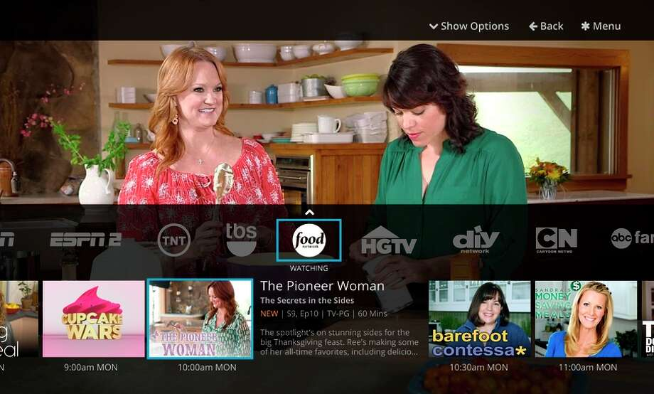 Sling TV provides an onscreen guide that gives viewers summaries of what's offered on various channels. Photo: Business Wire / ONLINE_YES
