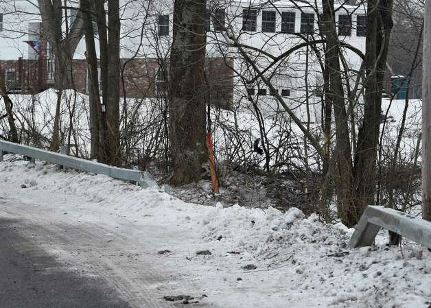 Trees are smashed and snow is displaced at the scene of double fatal accident on Clark Road Friday morning Jan. 23, 015 in Ganesvoort, N.Y.       (Skip Dickstein/Times Union) Photo: SKIP DICKSTEIN / 00030333A