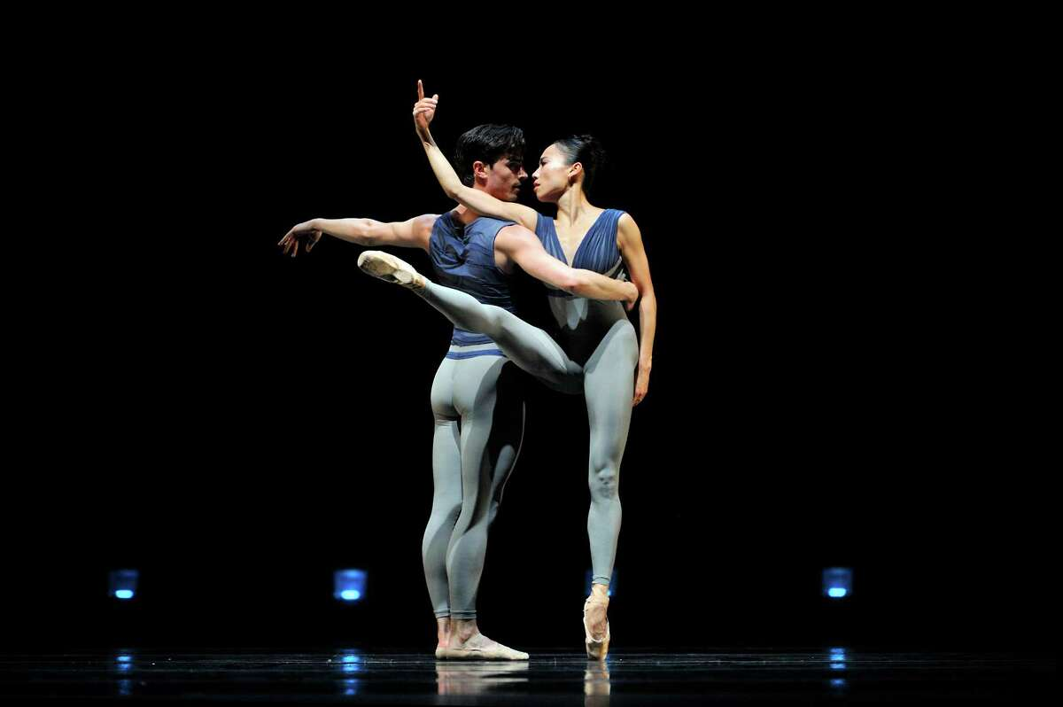 """Joseph Walsh and Frances Chung in Christopher Wheeldon's """"Borealis,"""" created for Helgi Tomasson's 30th anniversary."""