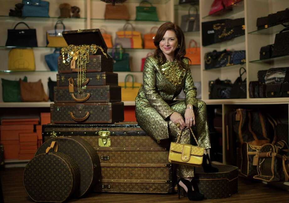 Donae Cangelosi Chramosta sells pre-owned luxury handbags through thevintagecontessa.com, an online fashion business.  Photo: Marie D. De Jesus, Staff / © 2014 Houston Chronicle