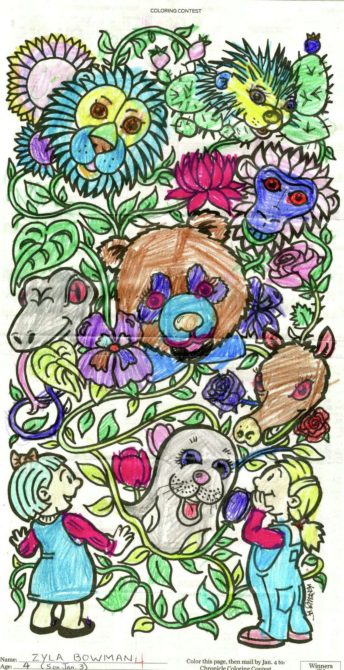 Chronicle coloring contest winner: Zyla Bowman, age 4