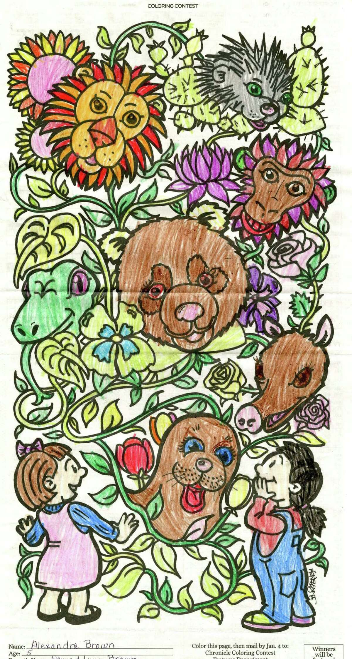 Chronicle coloring contest winner: Alexandra Brown, age 5