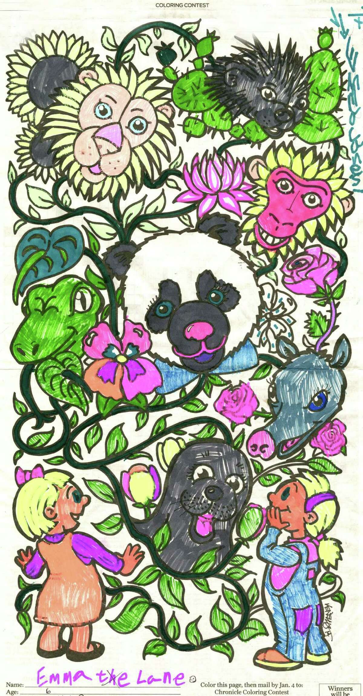 Chronicle coloring contest winner: Emma Lane, age 6