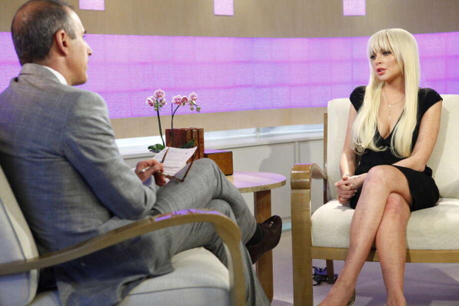 "TODAY -- Pictured: (l-r) ""Today"" show co-host Matt Lauer sits down with Lindsay Lohan -- (Photo by: Peter Kramer/NBC/NBC NewsWire via Getty Images) Photo: NBC, NBCU Photo Bank Via Getty Images / 2012 NBCUniversal Media, LLC"