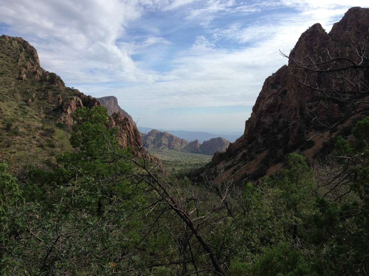 The view hiking along Lost Mine Trail inside Big Bend National Park.