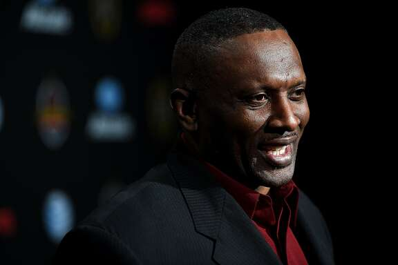 DALLAS, TX - JANUARY 10:  Former American football wide receiver Tim Brown attends the ESPN College Football Playoffs Night of Champions at Centennial Hall on January 10, 2015 in Dallas, Texas.  (Photo by Cooper Neill/Getty Images for ESPN)