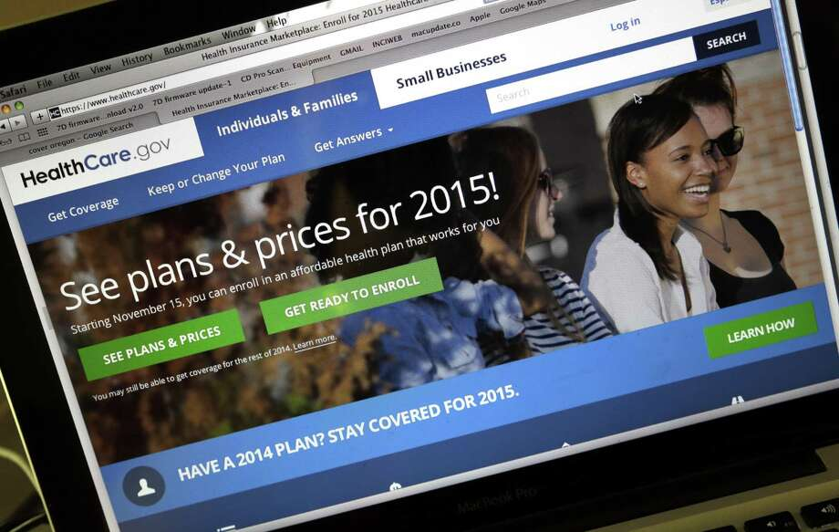 FILE - In this Nov. 12, 2014 file photo, the HealthCare.gov website, where people can buy health insurance, is seen on a laptop screen, shown in Portland, Ore.  The Obama administration is reversing itself after an outcry over consumer privacy on HealthCare.gov, the government's health insurance website. The Associated Press confirms that the administration made changes to the website to scale back release of consumers' personal information to private companies that analyze Internet performance and sell ads. (AP Photo/Don Ryan) Photo: Don Ryan, STF / AP