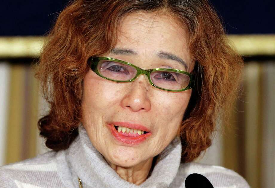 Junko Ishido, mother of Japanese journalist Kenji Goto who was taken hostage by the Islamic State group, speaks during a press conference in Tokyo, Friday, Jan. 23, 2015. Ishido said she was astonished and angered to learn from her daughter-in-law that Goto had left less than two weeks after his child was born, in October, to go to Syria to try to rescue the other hostage, 42-year-old Haruna Yukawa.  (AP Photo/Koji Sasahara) Photo: Koji Sasahara, STF / AP