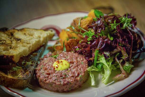 Beef heart tartare ($16) tastes better than many versions made with rib eye or tenderloin.