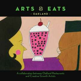 """""""Arts & Eats Oakland"""" offers recipes from 25 restaurants, with illustrations."""