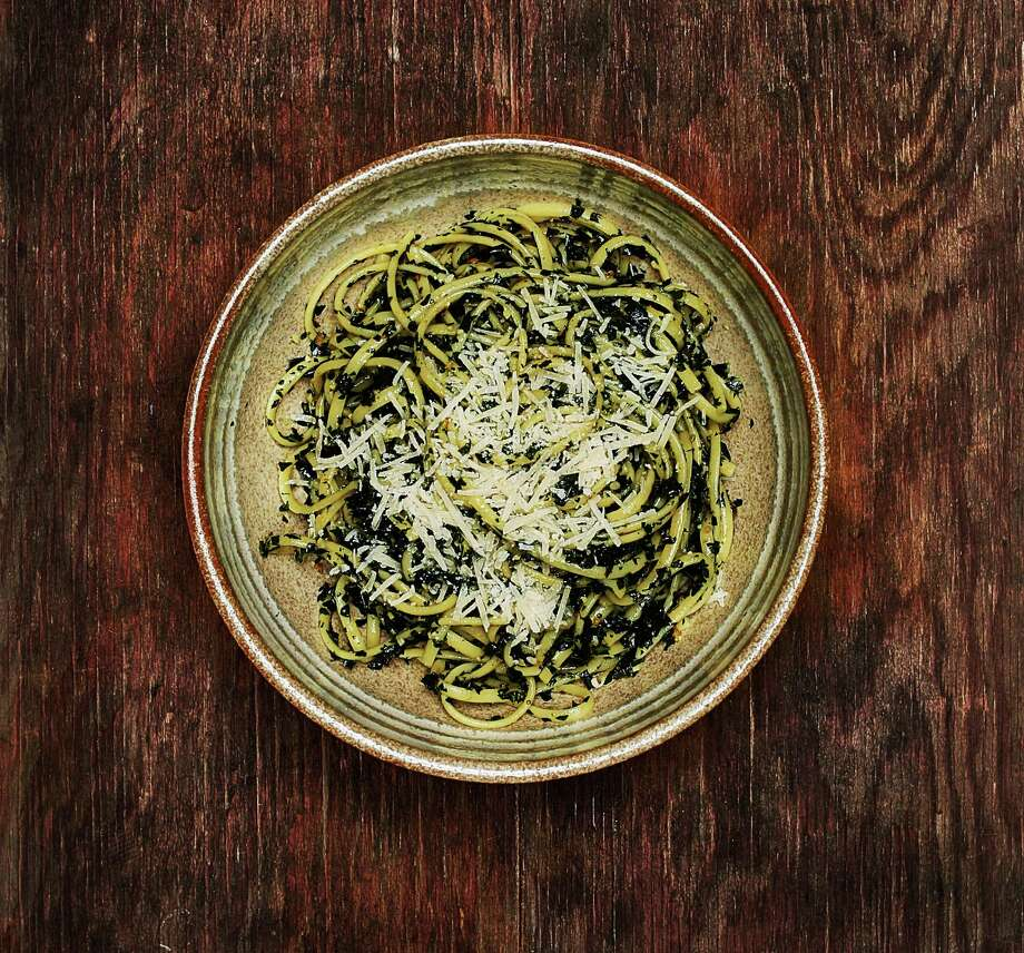 Pasta with Kale and Lemon Garlic Confit. Photo: Russell Yip / The Chronicle / ONLINE_YES