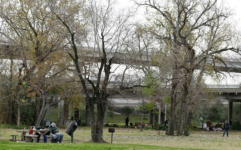 People gather at James Bute Park near downtown Saturday, Jan. 10, 2015, in Houston.( James Nielsen / Houston Chronicle ) Photo: James Nielsen, Staff / © 2015  Houston Chronicle