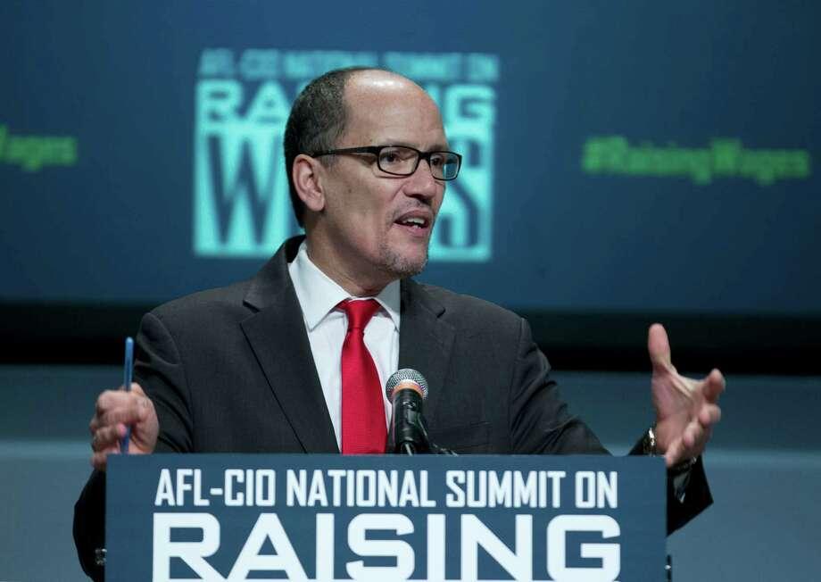 Labor Secretary Thomas Perez speaks during the forum AFL-CIO National Summit on Raising Wages, Wednesday, Jan. 7, 2015, at Gallaudet University in Washington. (AP Photo/Jose Luis Magana) Photo: Jose Luis Magana, FRE / FR159526 AP