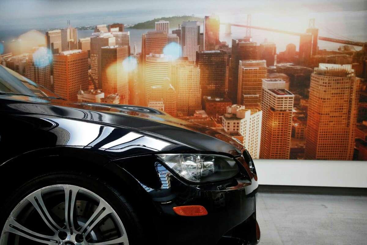A BMW on display at BMW of San Francisco Jan. 21, 2015 in San Francisco, Calif.