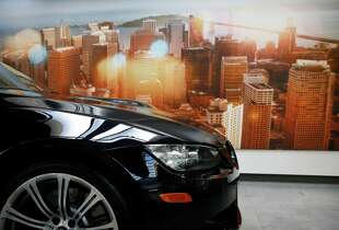 A BMW on display at BMW of San Francisco Jan. 21, 2015 in San Francisco, Calif.