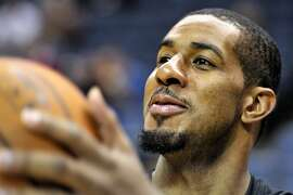 Portland Trail Blazers forward LaMarcus Aldridge, warming up before a game Jan. 17 in Memphis, above, tore a tendon in his left thumb that could keep him out six to eight weeks.